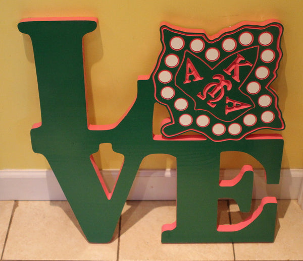 Alpha Kappa Alpha - LOVE Plaque 24""
