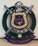 "Omega Psi Phi Fraternity - Banner 30"" (Inch) Carved Shield (Painted)"