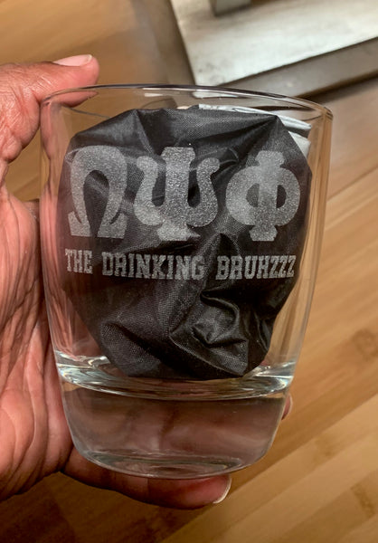 Omega Psi Phi Fraternity - The Drinking Bruhzzz Glasses (SET OF 2)
