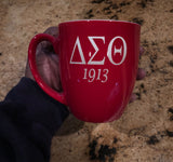 ENGRAVED Delta Sigma Theta Sorority - Coffee Mug - 16 Oz.  (Quantity 2)