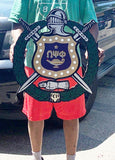 "Omega Psi Phi Shield - Painted (C 1968) - 24"" Tall"