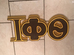 "Iota Phi Theta Fraternity - 22"" (Inch) BIG BLOCK LETTERS (Painted)"