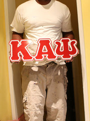"Kappa Alpha Psi Fraternity - 22"" (Inch) BIG BLOCK LETTERS (Painted)"
