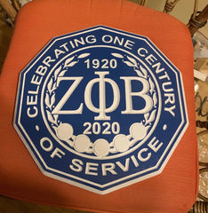 "Zeta Phi Beta Sorority - 16"" (Inch) Carved Centennial Wood Plaque (Painted)"