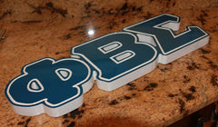 "Phi Beta Sigma Fraternity - 23"" (Inch) BIG BLOCK LETTERS (Painted)"