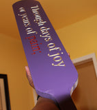 "Omega Psi Phi Paddle (Purple 32"" Long) - Through Days of Joy"