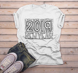 Men's New Years Shirt 2019 Typography Shirts New Year's Tee Happy New Year 2019 T Shirt-Shirts By Sarah
