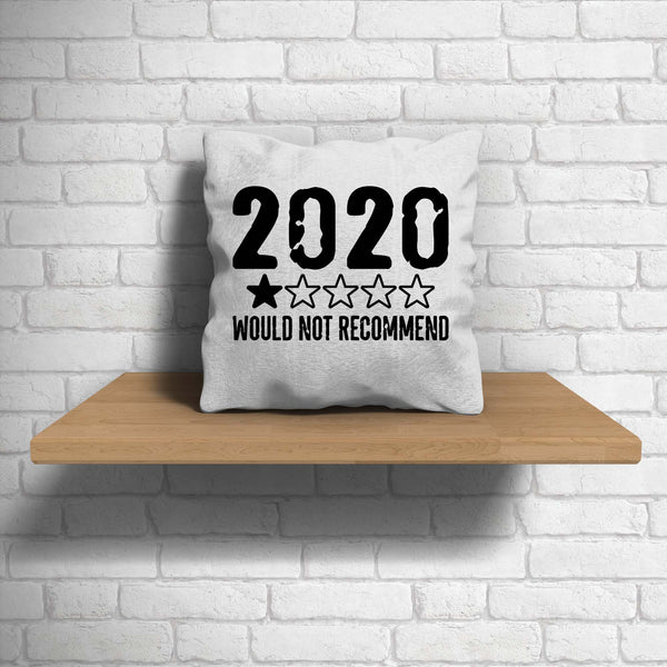 Funny 2020 Pillow Cover 1 Star Not Recommend 2020 Fun Throw Pillow Case No Stars For Twenty Twenty Gift Idea 15.75