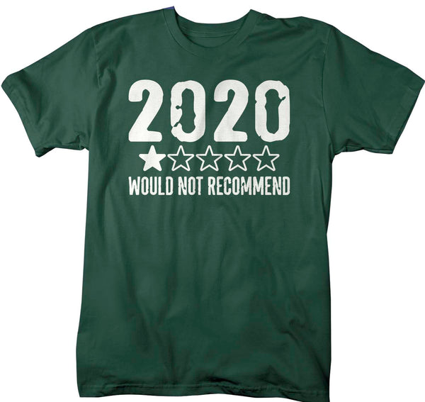 Men's Funny 2020 T Shirt 1 Star Not Recommend 2020 Fun Tee No Stars For Twenty Twenty Gift Idea-Shirts By Sarah