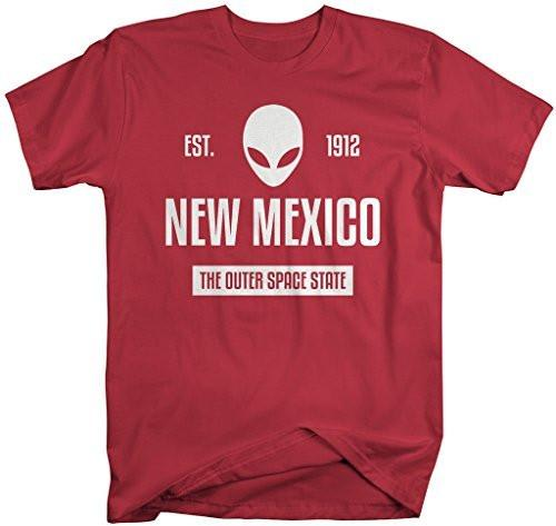 Shirts By Sarah Men's New Mexico State Nickname Shirt The Outer Space State T-Shirts Est. 1912-Shirts By Sarah