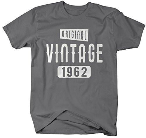 Shirts By Sarah Men's Original Vintage Birthday Year Shirts Made In 1962 T-Shirt-Shirts By Sarah