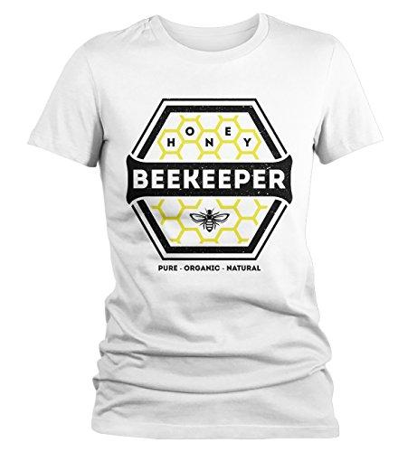 Women's Beekeeper T-Shirt Honey Comb Shirt Pure Natural Organic Shirt-Shirts By Sarah
