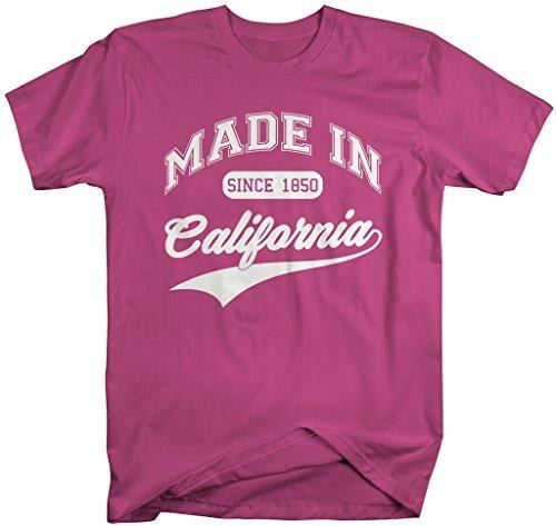 Shirts By Sarah Men's Made In California T-Shirt Since 1850 State Pride Shirts-Shirts By Sarah
