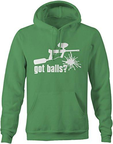 Shirts By Sarah Men's Men's Funny Paintball Got Balls Hoodie Baller Pullover-Shirts By Sarah