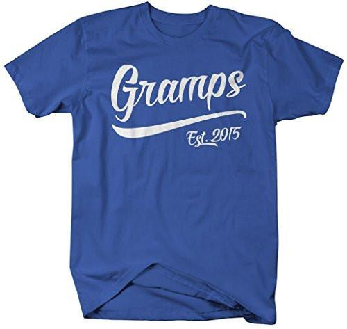 Shirts By Sarah Men's Funny Gramps Est. 2015 T-Shirt Father's Day Grandpa Shirts-Shirts By Sarah