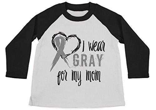 Shirts By Sarah Boy's Wear Gray For Mom Shirt 3/4 Sleeve Gray Awareness Shirts-Shirts By Sarah