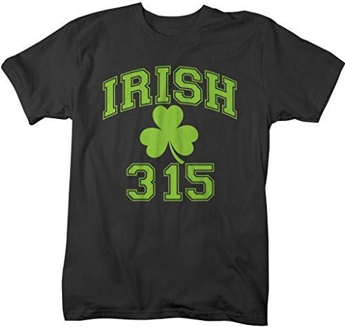 Shirts By Sarah Men's St. Patrick's Day Area Code T-Shirt Syracuse Irish 315-Shirts By Sarah