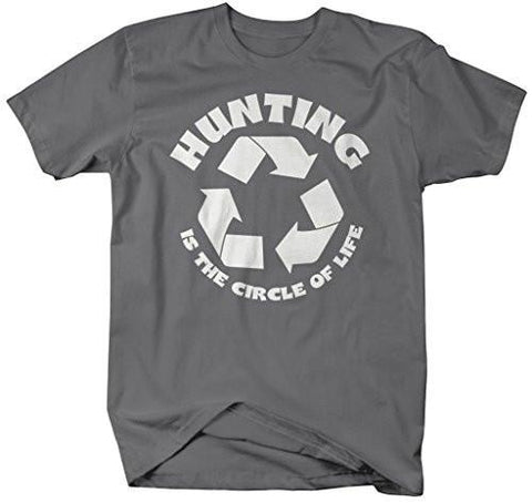 c70562a39 Shirts By Sarah Men's Funny Hunting Shirt Circle Of Life Hunter T-Shirts- Shirts