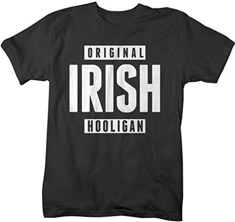 Shirts By Sarah Men's Funny St. Patrick's Day T-Shirt Original Irish Hooligan Shirts-Shirts By Sarah