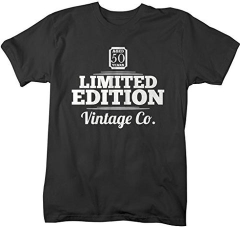 Shirts By Sarah Men's 50th Birthday T-Shirt Limited Edition Vintage Shirts-Shirts By Sarah