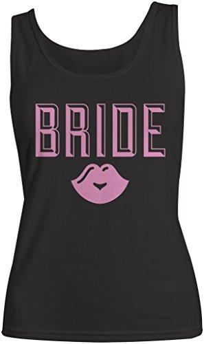 Shirts By Sarah Women's Bride Lips Tank Top Wedding Cotton Tanks-Shirts By Sarah