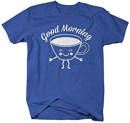Shirts By Sarah Men's Good Morning Coffee Cup T-Shirt Hipster-Shirts By Sarah