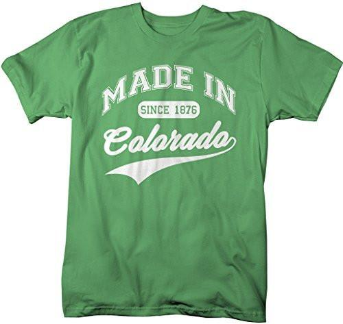 Shirts By Sarah Men's Made In Colorado T-Shirt Since 1876 State Pride Shirts-Shirts By Sarah