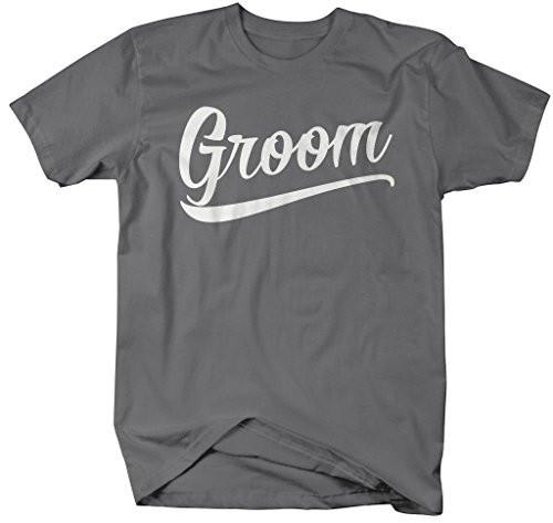 Shirts By Sarah Men's Unisex Groom T-Shirt Wedding Shirt-Shirts By Sarah