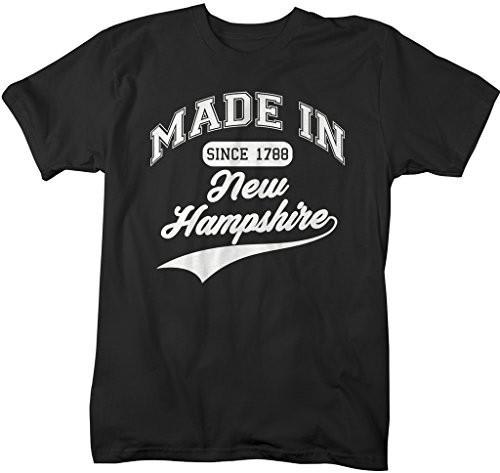 Shirts By Sarah Men's Made In New Hampshire T-Shirt Since 1788 State Pride Shirts-Shirts By Sarah