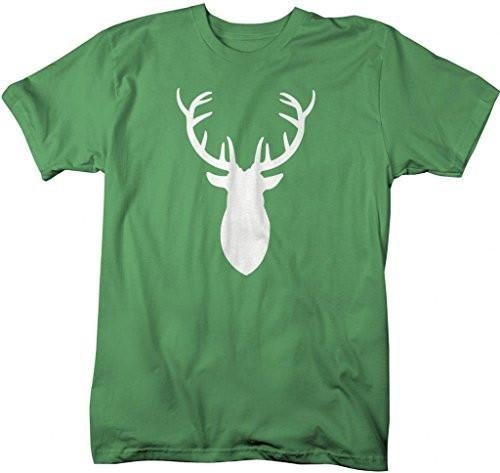 Shirts By Sarah Men's Deer Silhouette T-Shirt Hunter Shirts Hunting Buck-Shirts By Sarah