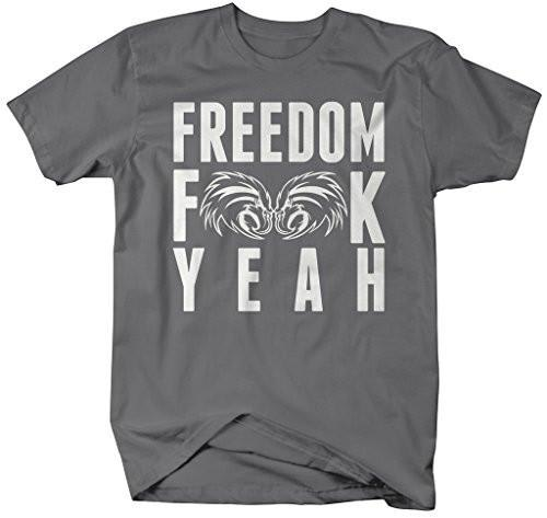 Shirts By Sarah Men's Patriotic 4th July T-Shirt Freedom F**K Yeah-Shirts By Sarah