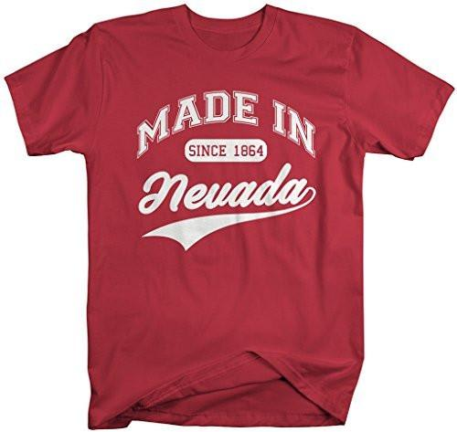 Shirts By Sarah Men's Made In Nevada T-Shirt Since 1864 State Pride Shirts-Shirts By Sarah
