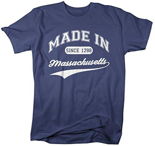 Shirts By Sarah Men's Made In Massachusetts T-Shirt Since 1788 State Pride Shirts-Shirts By Sarah