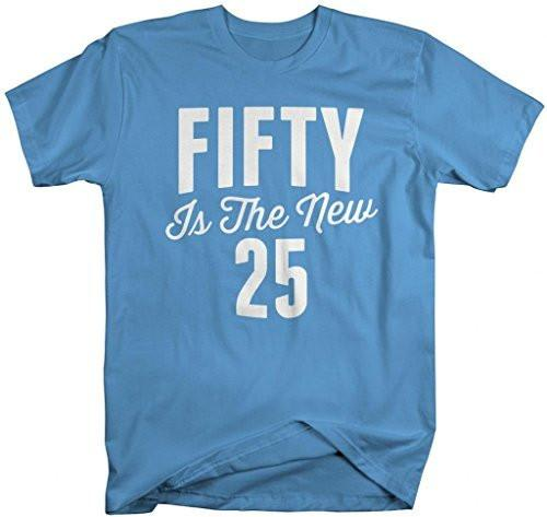 Shirts By Sarah Men's Funny 50th Birthday T-Shirt Funny Fifty New 25 Shirts-Shirts By Sarah