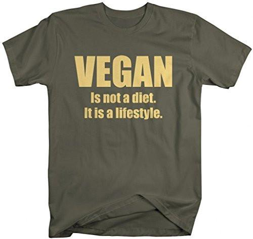 Shirts By Sarah Men's Vegan Lifestyle T-Shirt Not A Diet Shirts-Shirts By Sarah