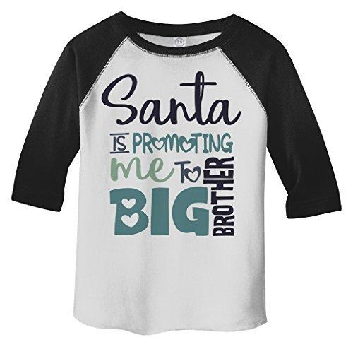 Shirts By Sarah Toddler Santa Promoting Big Brother Christmas T-Shirt Baby Reveal-Shirts By Sarah