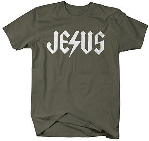 Shirts By Sarah Men's Religious Jesus T-Shirt Christian Rock Shirts-Shirts By Sarah