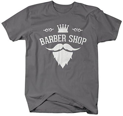 Shirts By Sarah Men's Barber Shop T-Shirt Stylist Mustache Goatee Shirts-Shirts By Sarah