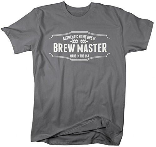 Shirts By Sarah Men's Made In USA Home Brew Master T-Shirt-Shirts By Sarah