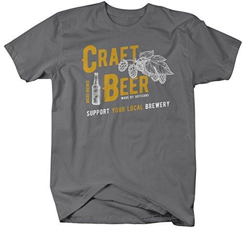 Shirts By Sarah Men's Craft Beer Support Local Brewery Tees Brew Master T-Shirt-Shirts By Sarah
