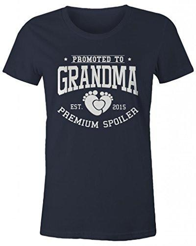 Shirts By Sarah Women's Promoted To Grandma Missy Fit T-Shirt Premium Spoiler Est. 2015 Shirts-Shirts By Sarah