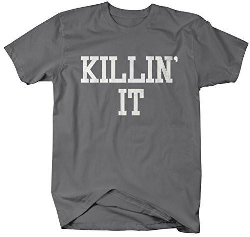 Shirts By Sarah Men's Funny Killin' It T-Shirt Inspirational Positive Shirts-Shirts By Sarah