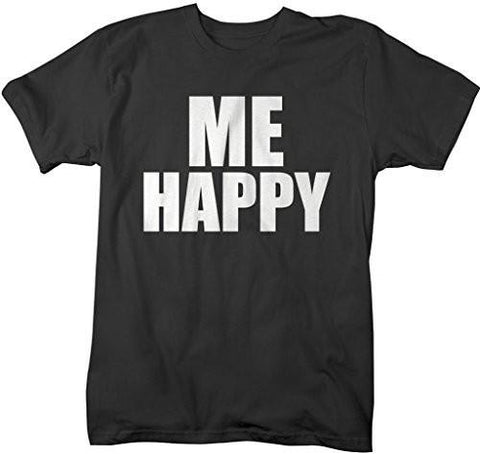 Shirts By Sarah Unisex Matching Couple T-Shirts (You Make) Me Happy - Black / XX-Large - 2