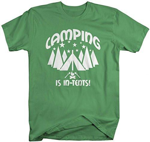 Shirts By Sarah Men's Funny Camping Is In Tents Camper T-Shirt-Shirts By Sarah