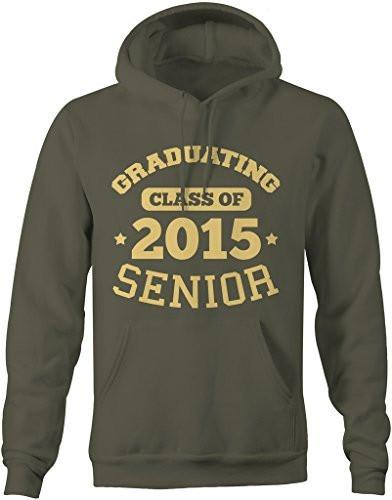 Shirts By Sarah Men's Graduating Class 2015 Senior Graduate Hoodie-Shirts By Sarah