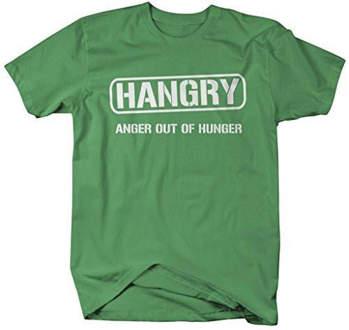 Shirts By Sarah Men's Funny Hangry Anger Hunger T-Shirt-Shirts By Sarah