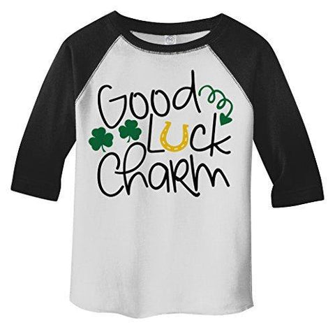 Shirts By Sarah Boy's Toddler Funny Cute ST. Patrick's Day T-Shirt Good Luck Charm-Shirts By Sarah