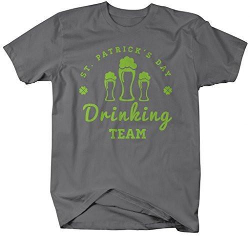 Shirts By Sarah Men's Funny St. Patrick's Day Drinking Team T-Shirt-Shirts By Sarah