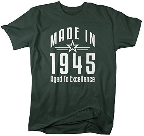 Shirts By Sarah Men's Made In 1945 Birthday T-Shirt Aged To Excellence Shirts-Shirts By Sarah