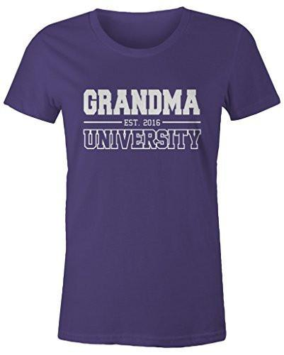 Shirts By Sarah Women's Missy Grandma University Est. 2016 T-Shirt Mother's Day Shirts-Shirts By Sarah